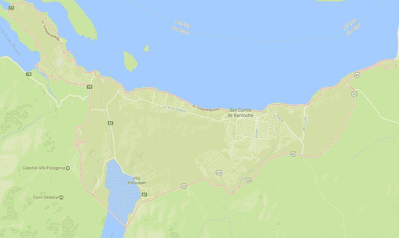 Onde Ficar em Bariloche: Mapa