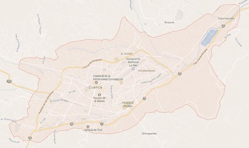 Onde Ficar em Cuenca: Mapa