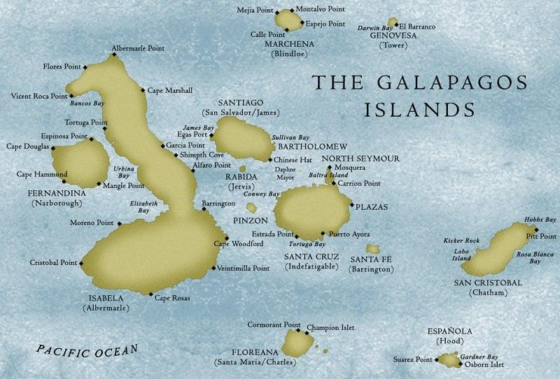 Onde Ficar em Galápagos: Mapa