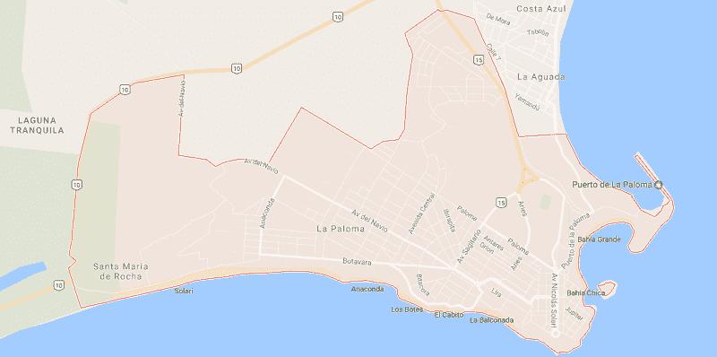 Onde Ficar em La Paloma: Mapa