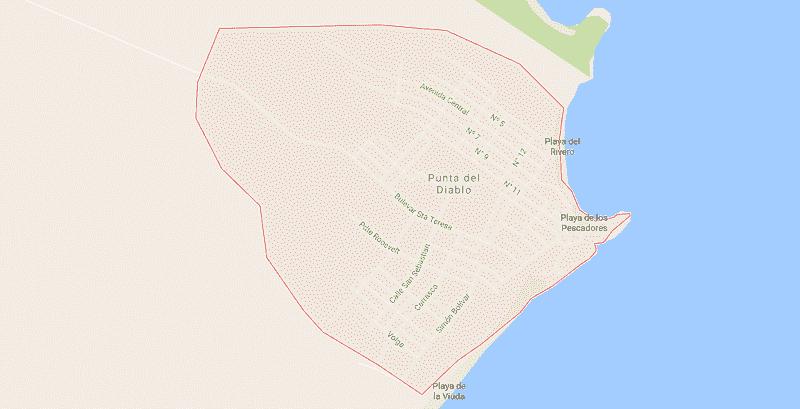 Onde Ficar em Punta Del Diablo: Mapa