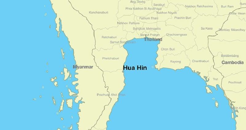 Onde Ficar Em Hua Hin: Mapa