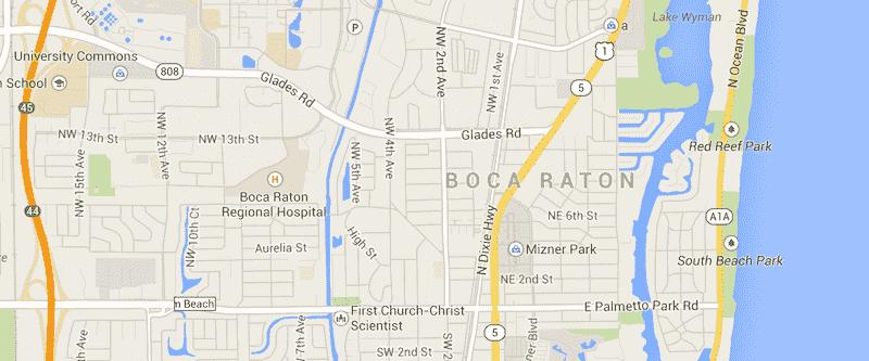 Onde Ficar Em Boca Raton: Mapa
