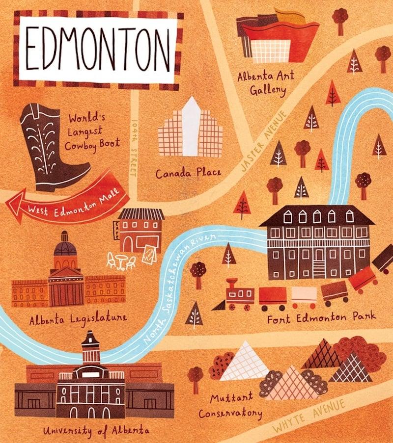 Onde Ficar Em Edmonton: Mapa