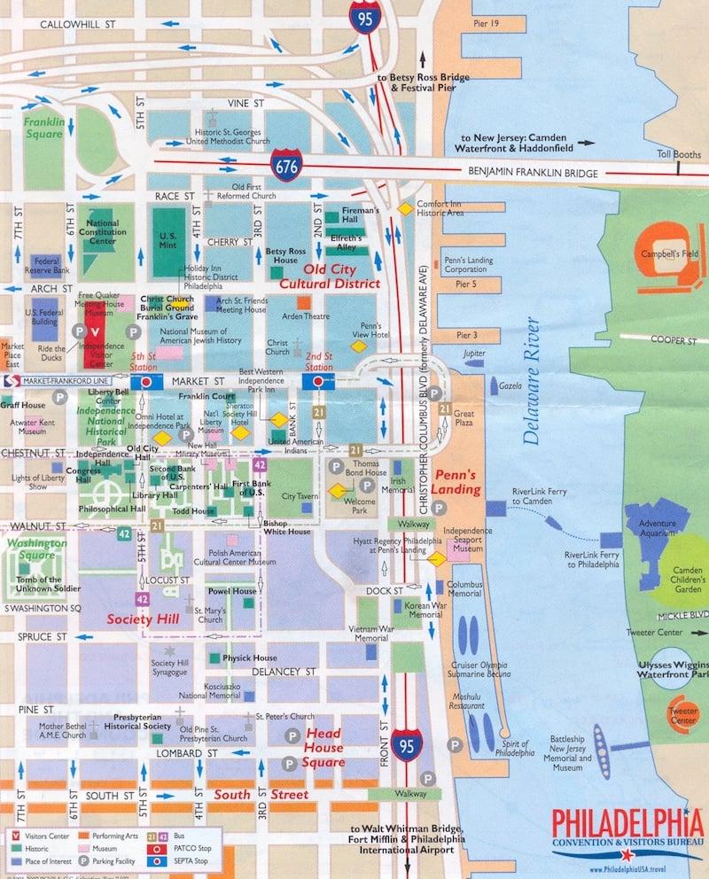 Onde Ficar Em Filadélfia: Mapa