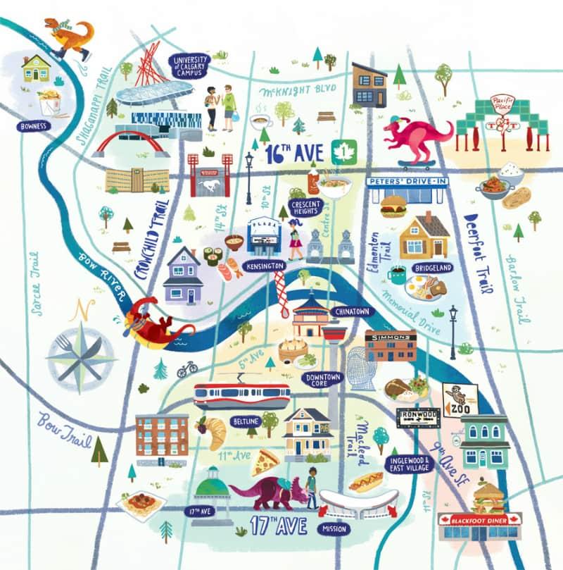 Onde Ficar Em Calgary: Mapa