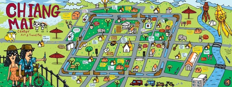 Onde Ficar Em Chiang Mai: Mapa