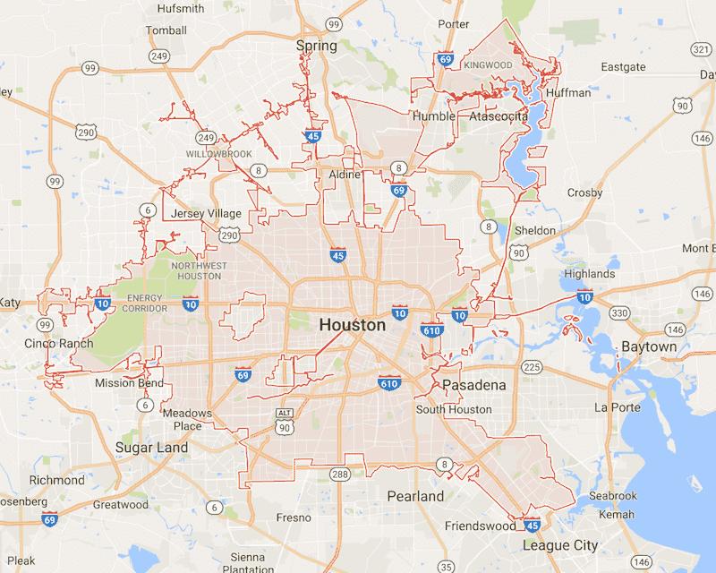 Onde Ficar Em Houston: Mapa