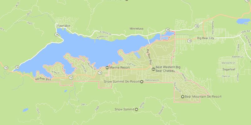 Onde Ficar Em Big Bear Lake: Mapa