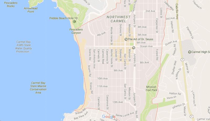 Onde Ficar Em Carmel: Mapa