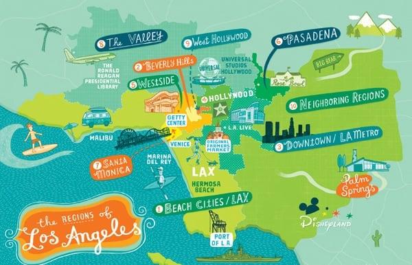 Onde Ficar Em Malibu: Mapa