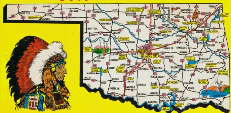 Onde Ficar Em Oklahoma: Mapa