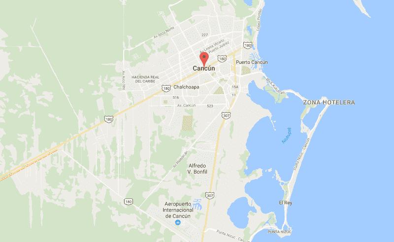 Onde Ficar em Cancún: Mapa