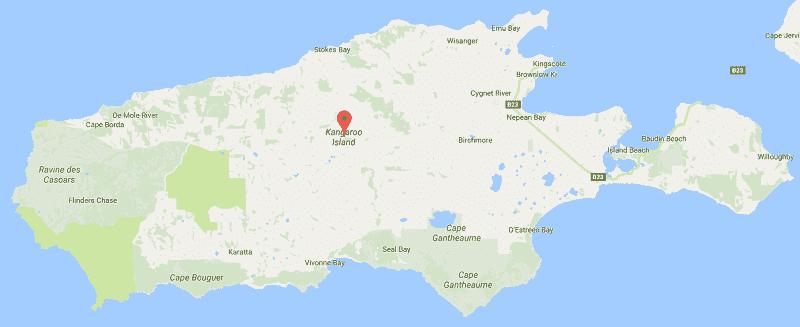 Onde Ficar na Ilha Kangaroo: Mapa