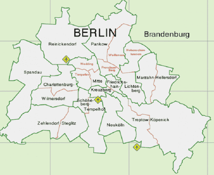 Onde Ficar Em Berlim: Mapa