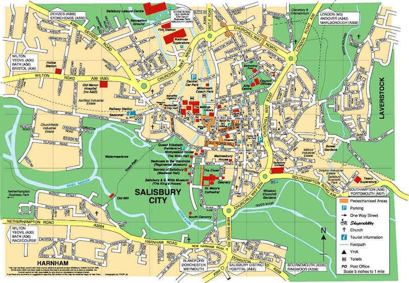 Onde Ficar em Stonehenge na Inglaterra: Mapa