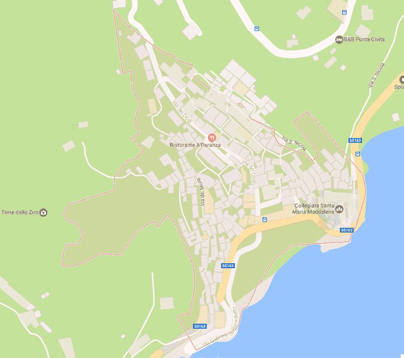 Onde Ficar em Atrani na Itália: Mapa