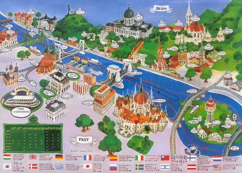Onde Ficar em Budapeste na Hungria: Mapa