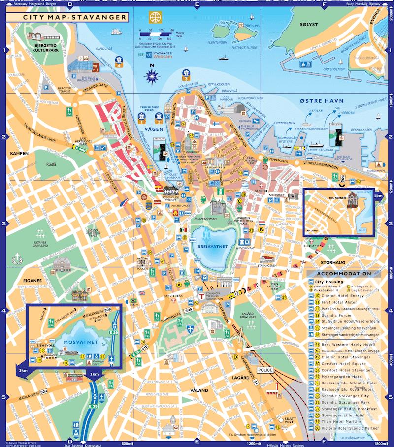 Onde Ficar em Stavanger na Noruega: Mapa