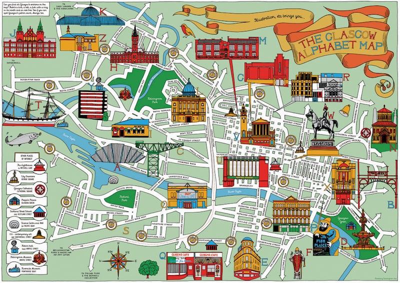 Onde Ficar em Glasgow na Escócia: Mapa