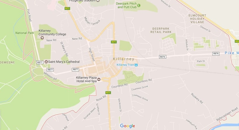 Onde Ficar em Killarney: Mapa