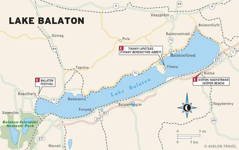 Onde Ficar no Lago Balaton na Hungria: Mapa