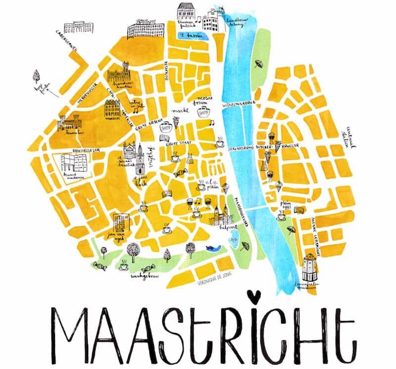 Onde Ficar em Maastricht na Holanda: Mapa