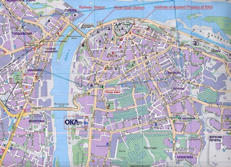 Onde Ficar em Nizhny Novgorod: Mapa