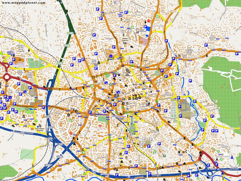 Onde Ficar em Aix-en-Provence: Mapa