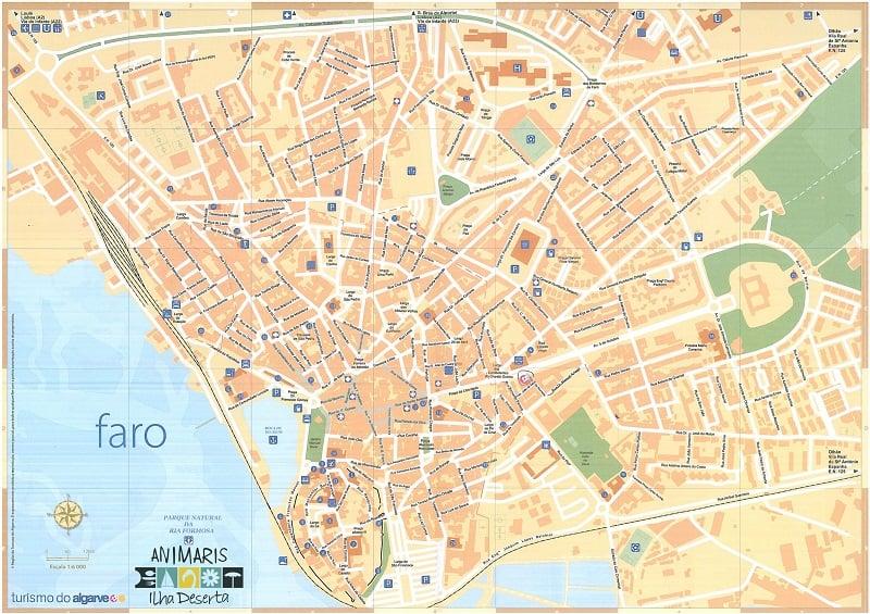 Onde Ficar em Faro: Mapa