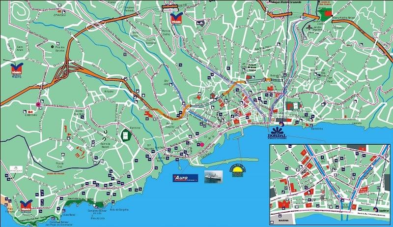Onde Ficar em Funchal: Mapa