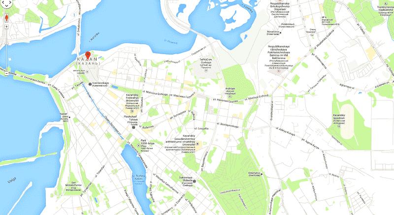 Onde Ficar em Kazan: Mapa