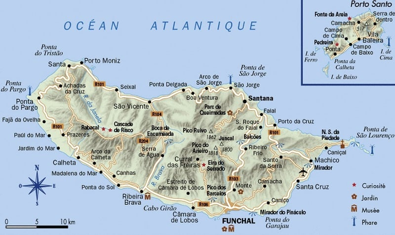 Onde Ficar em Madeira: Mapa