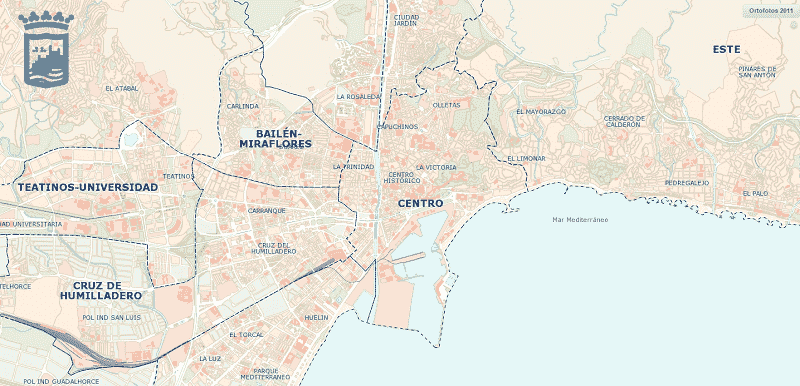 Onde Ficar em Málaga: Mapa