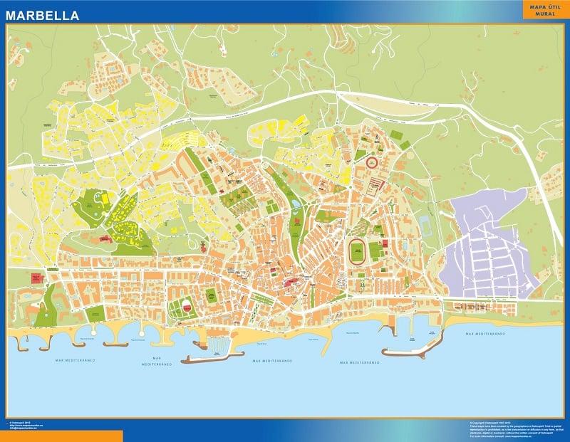 Onde Ficar em Marbelha: Mapa