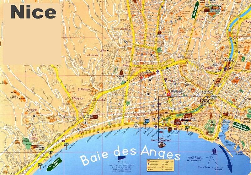 Onde Ficar em Nice: Mapa