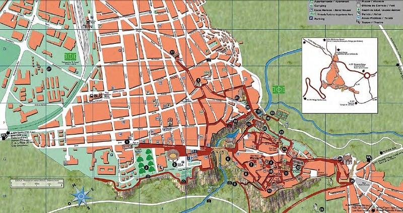 Onde Ficar em Ronda: Mapa