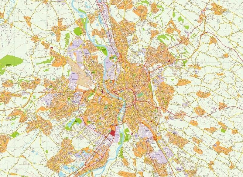 Onde Ficar em Toulouse: Mapa
