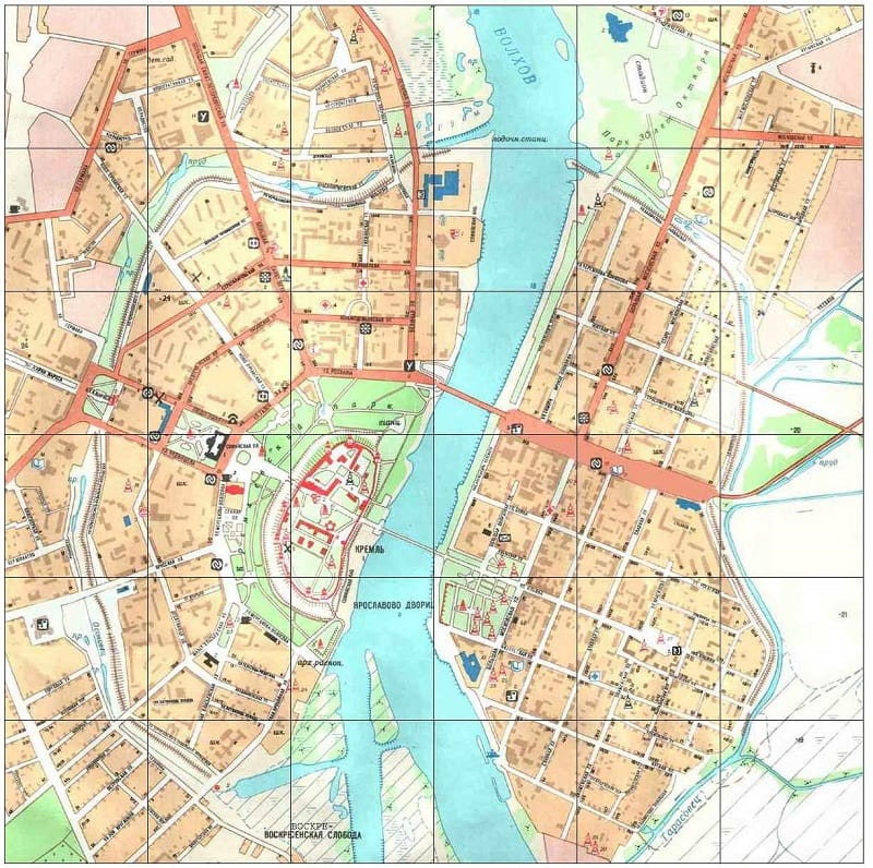 Onde Ficar em Veliky Novgorod: Mapa