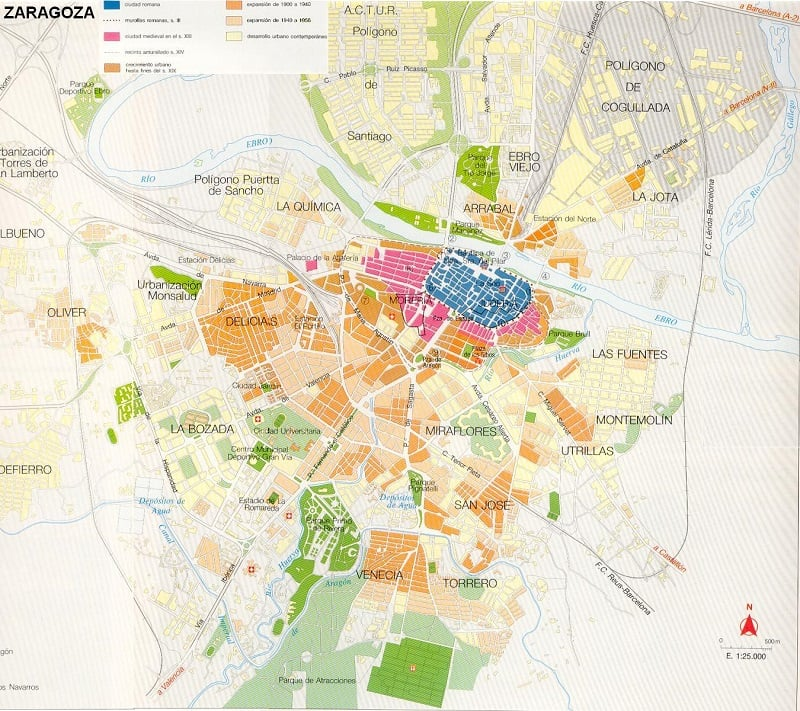 Onde Ficar em Zaragoza: Mapa