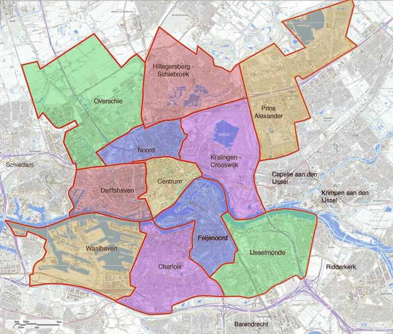 Onde Ficar em Rotterdam na Holanda: Mapa