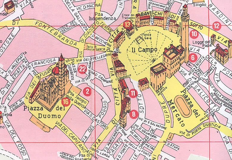 Onde Ficar em Siena: Mapa