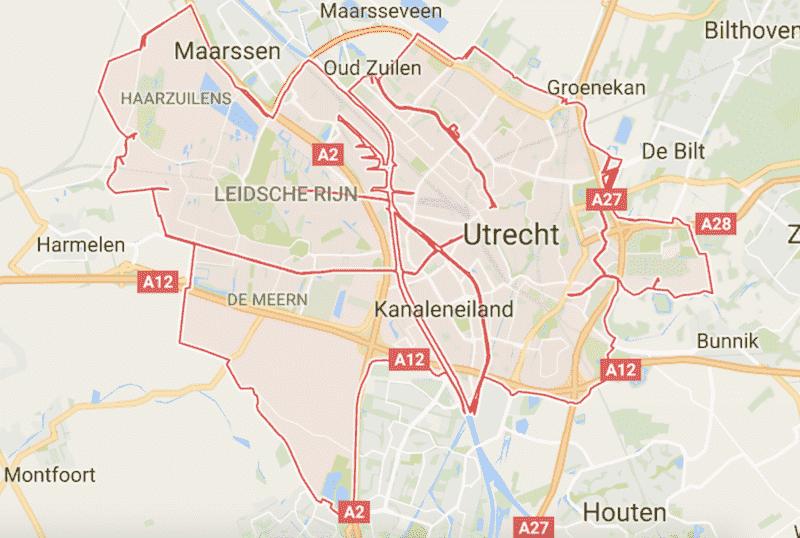 Onde Ficar em Utrecht na Holanda: Mapa