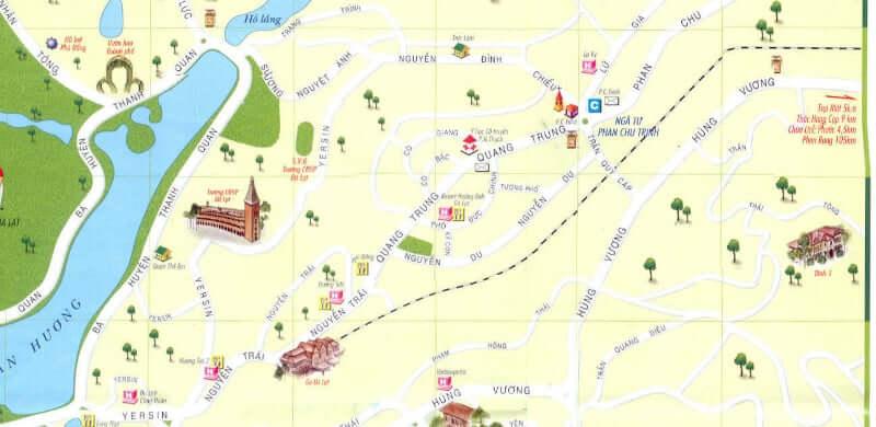Onde Ficar em Da Lat no Vietnã: Mapa
