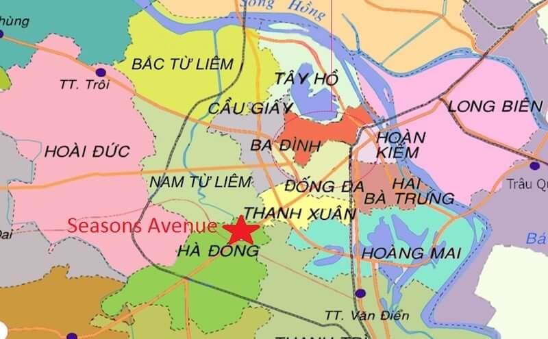 Onde Ficar em Hanói no Vietnã: Mapa