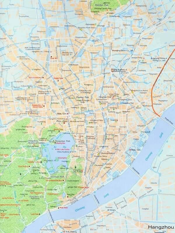 Onde Ficar em Hangzhou: Mapa