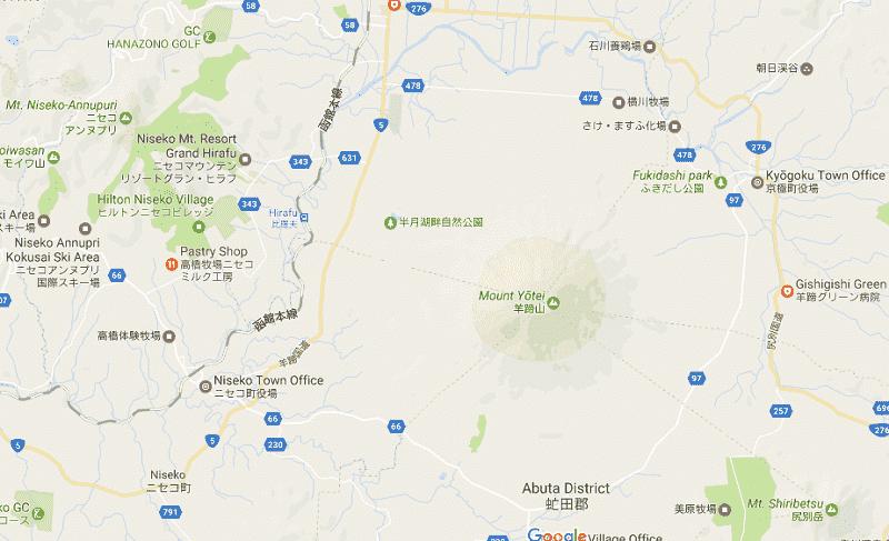 Onde Ficar em Niseko: Mapa
