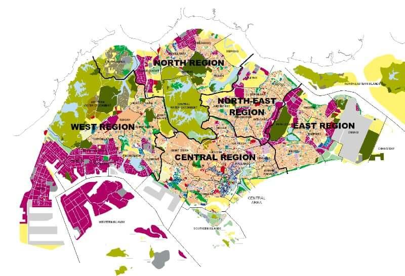 Onde Ficar em Singapura na Singapura: Mapa