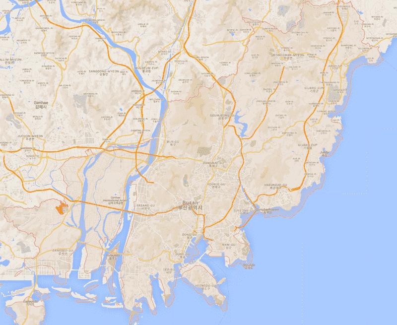 Onde Ficar em Busan na Coréia do Sul: Mapa