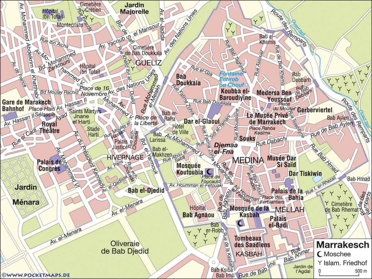 Onde Ficar em Casablanca no Marrocos: Mapa